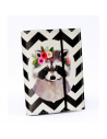 """Card holder of eco-leather """"Raccoon in flowers"""""""