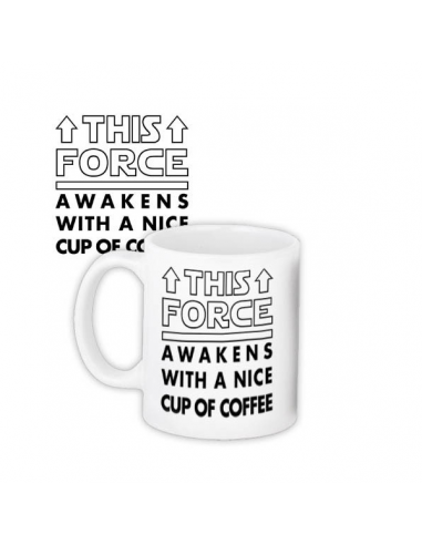 "Чашка ""This force awakens with a nice cup of coffee"""