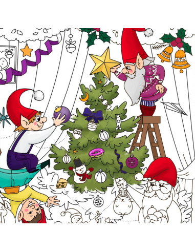 "Big coloring ""Christmas tree"""
