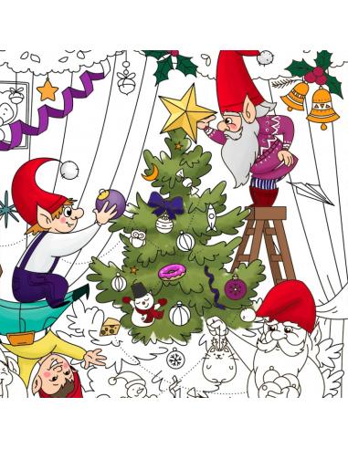 """Велика розмальовка """"Різдвяна ялинка"""""""