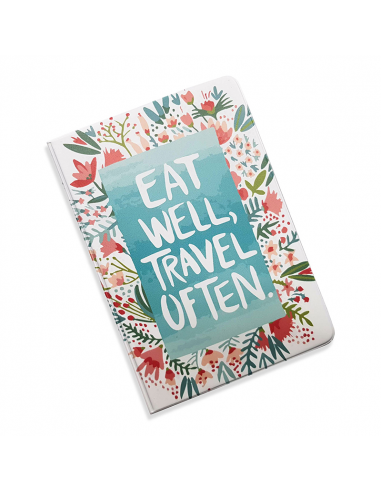 "Document Organizer 5 in 1 ""Eat well and travel often"""
