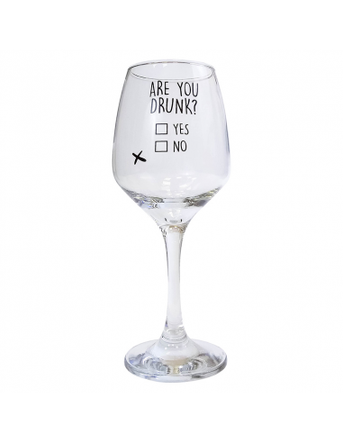 "Wine glass ""Are you drunk?"""