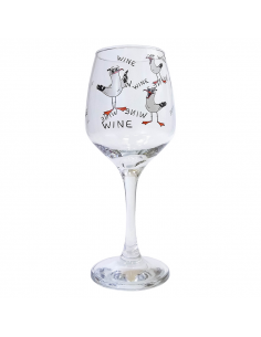 "Wine glass ""Gulls Wine"""