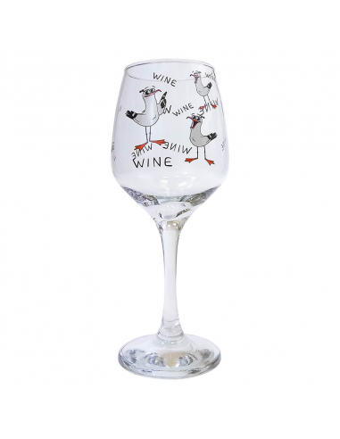 "Wine glass ""Gulls Wine"""