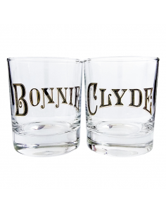 "A set of glasses for whiskey ""Bonnie & Clyde"""