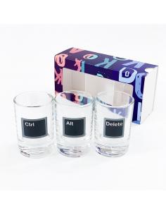 """A set of glasses """"Ctrl+alt+dlt"""" (3 pcs.)"""