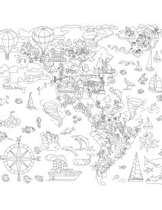 Купить раскраску XXL «Приключения в автопарке»