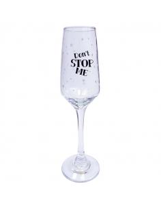 """Бокал для шампанского """"Don't stop me"""""""