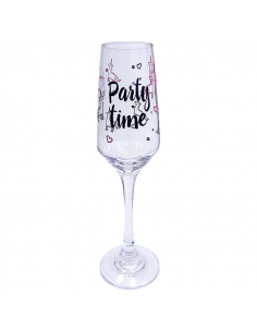 "Champagne glass ""Party Time"""