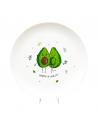 """Plate """"Avocado"""""""