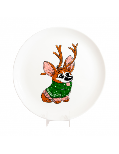 """Plate """"Corgi - Deer"""""""