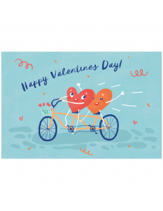 "Postcard ""Happy Valentines day"""