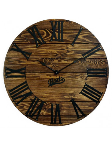 Wall clock wooden Kansas Mokko