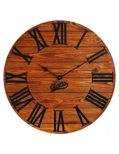Wall clock wooden Kansas Rust