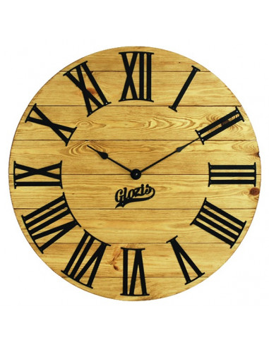 Wall clock wooden Kansas Gold