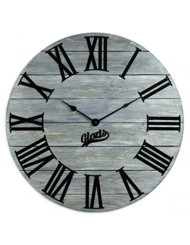 Wall clock wooden Kansas Graphite