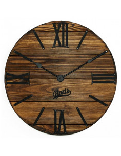 Wall clock wooden Nevada Mokko