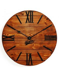 Wall clock wooden Nevada Rust