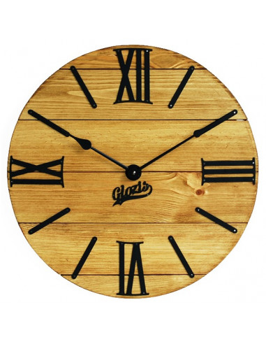 Wall clock wooden Nevada Gold
