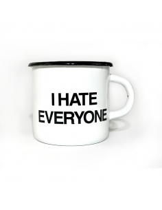 Metal Mug I hate everyone