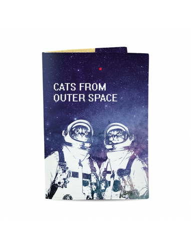 Passport Cover Cats from outer space