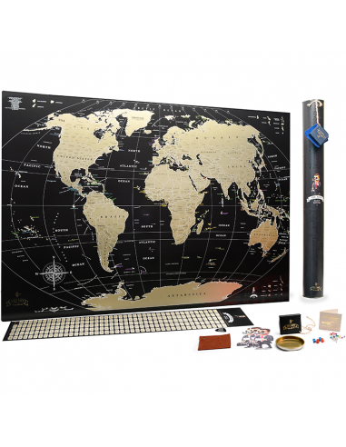 Scratch World Map MyMap Black Edition...