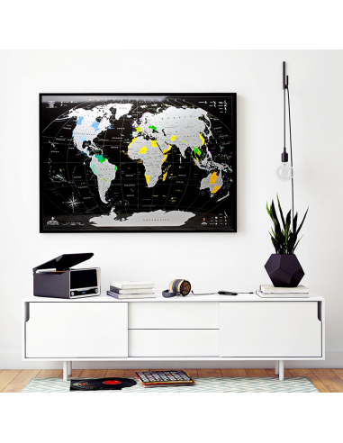 Scratch World Map MyMap Black Edition...