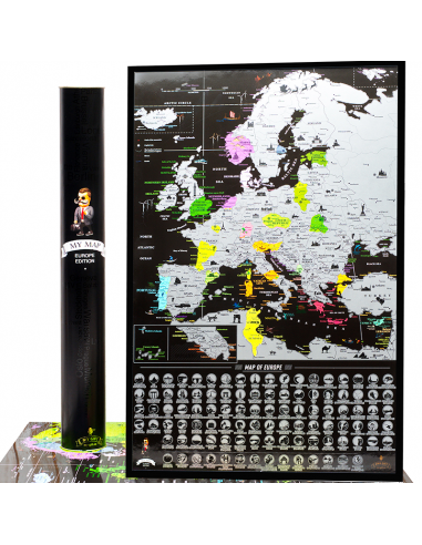Scratch map of Europe My Map Europe...