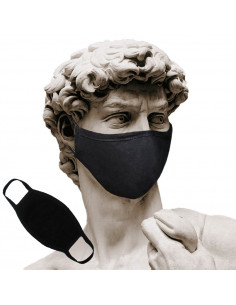 Mouth mask black without print