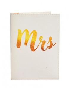 Обкладинка на паспорт MRS біла