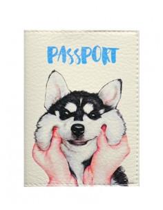 Обкладинка на паспорт Хаскі