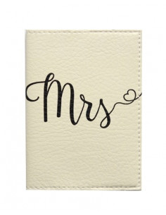 Біла обкладинка на паспорт MRS