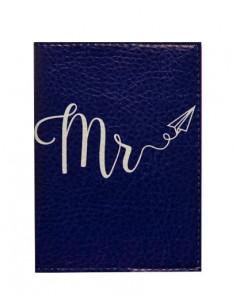 Синя обкладинка на паспорт MR