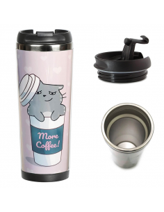 Thermo mug Cat - coffee lover