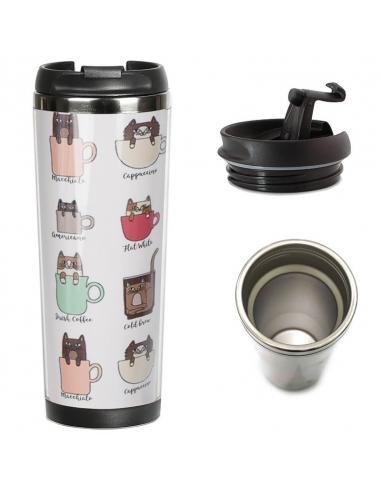 Thermal mug Cat Coffee