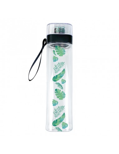 Water Bottle Palm leaves