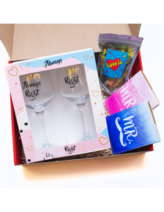 """Mr & Mrs"" gift set"