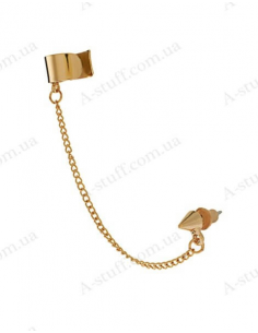 Cuff with cone stud and chain