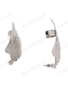 """Cuff with earring """"Wings and Star"""""""