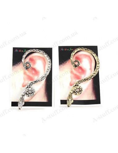"Cuff Earring with ""Snake wriggles"""