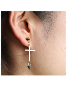 "Earrings ""Cross with cones"""