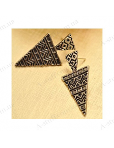"Triangular earrings ""Viv"""