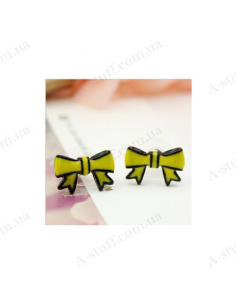 "Stud earrings ""Yellow bow"""