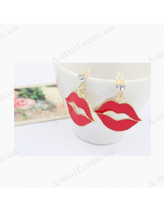 Earrings with lips
